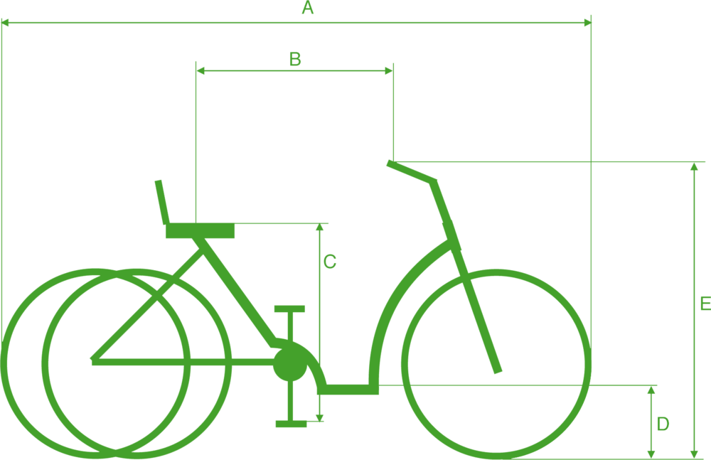 Maten en afmetingen Pfau-tec elektrische driewieler Napoli 2