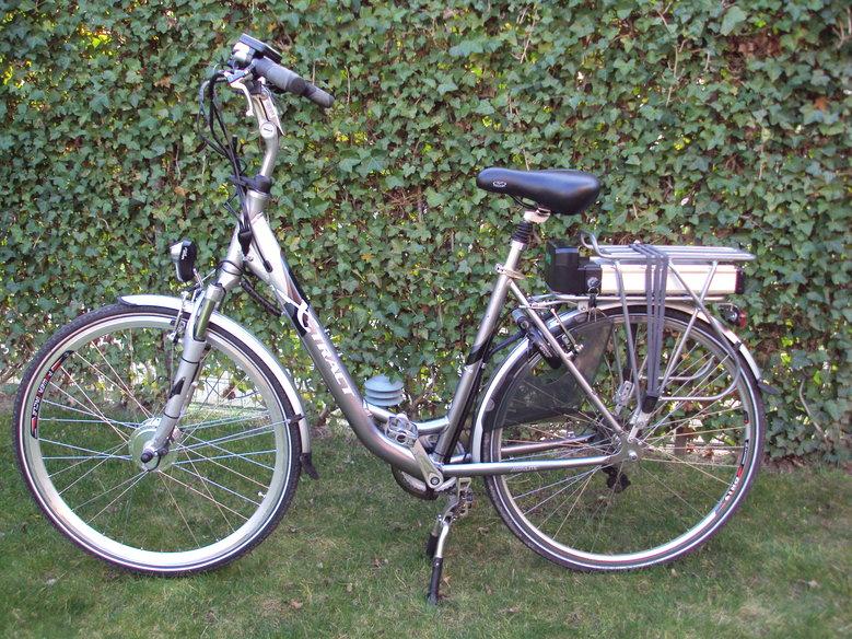 X-Tract elektrische fiets iov klant omgebouwd naar een echte Green - Drive elektrische fiets met onze Luxe rollerbrake ombouw