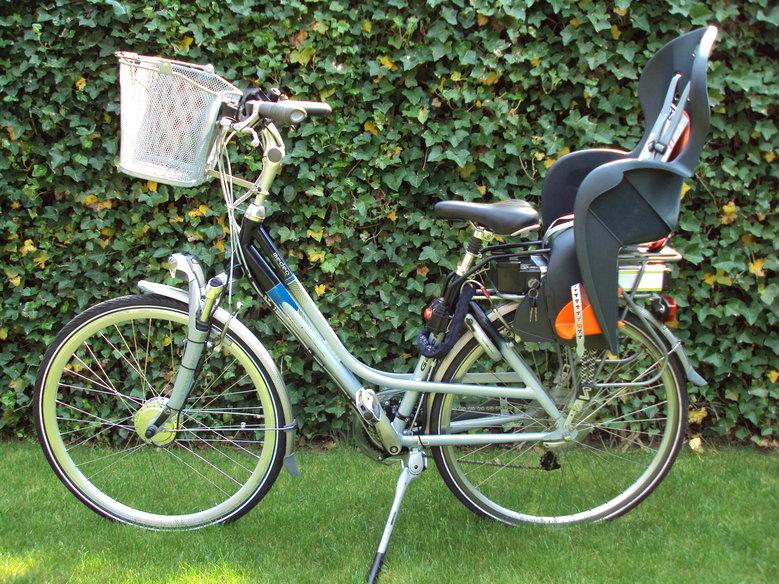 Gazelle Medeo met standaard Rollerbrake ombouwset en magneetschijf voor op het eerste tandwielblad.