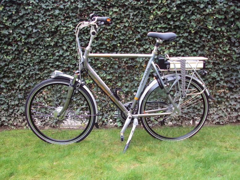 Gazelle Allure met standaard V-brake Ombouwset.