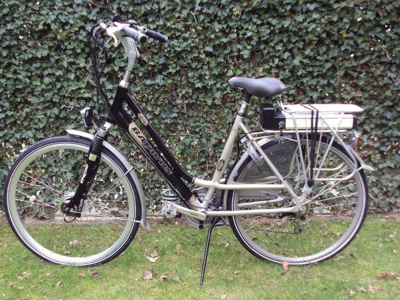 Batavus Jakima omgebouwd met standaard Roller-brake ombouwset elektrische fiets.