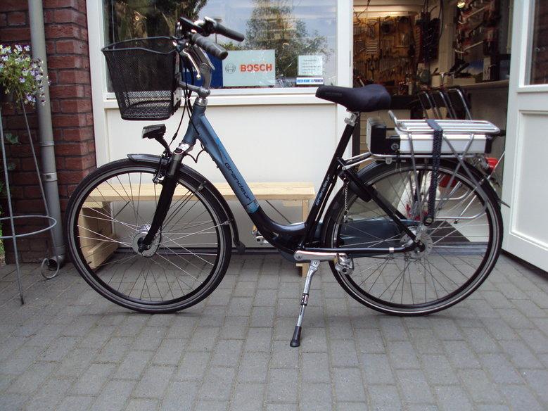 Grandeur Souplesse omgebouwd met ombouwset elektrische fiets standaard 5 standen Led display en 13 Ah Li-ion accu
