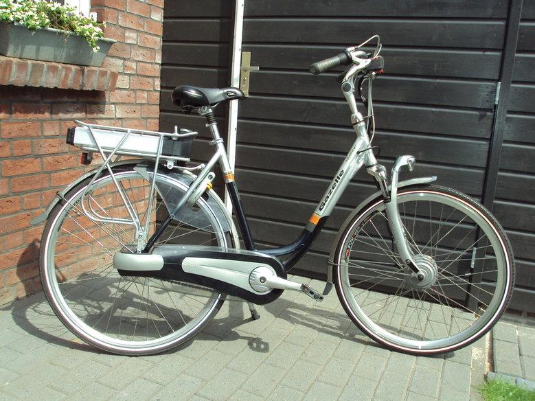 Door klant zelf omgebouwde Gazelle met standaard Rollerbrake ombouwsetset.