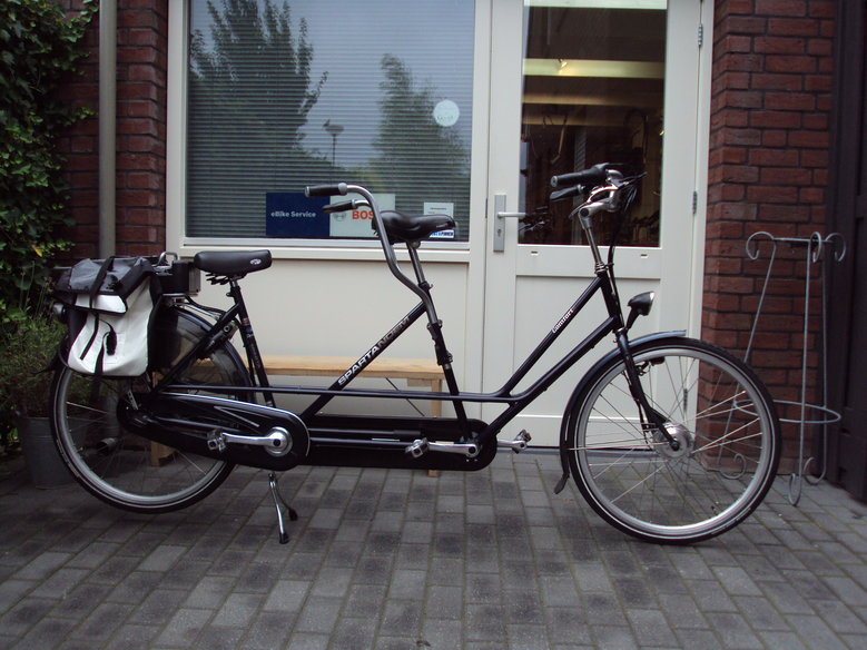 Sparta Tandem omgebouwd naar elektrisch met Comfort ombouwset elektrische fiets