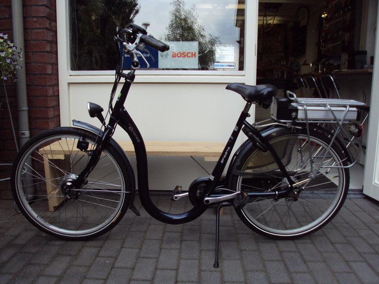 Sparta Entree extra lage instap fiets omgebouwd tot eBike