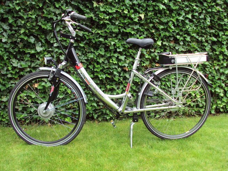 Citystar Orginele elektrische fiets Omgebouwd met onze standaard V-brake ombouwset.
