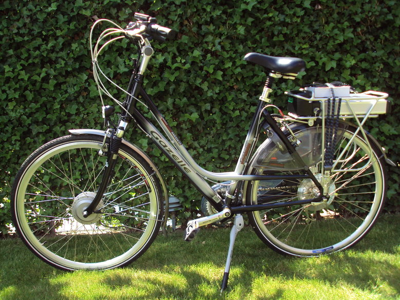 Gazelle Medeo met onze luxe V-Brake ombouwset.