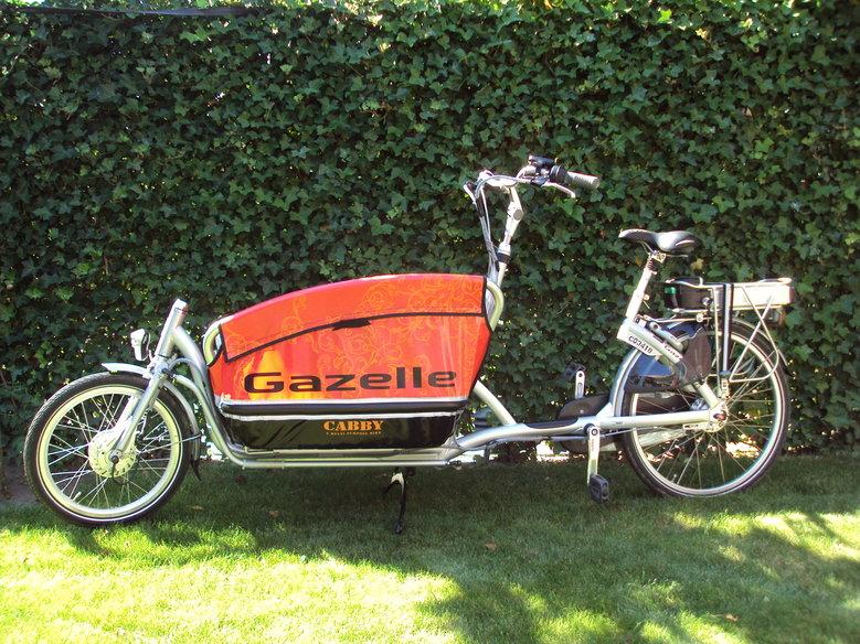 Gazelle Cabby met standaard rollerbrake ombouwset + extra lange motor kabel
