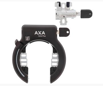Ringslot AXA Solid plus ring- en accuslot set Bosch 2 frame accu zwart
